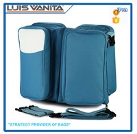 Fashion Blue 300D Baby Travel Carry Cot