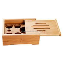 wholesale portable bamboo tea trays, Chinese Gongfu tea serving tray box with removable cover