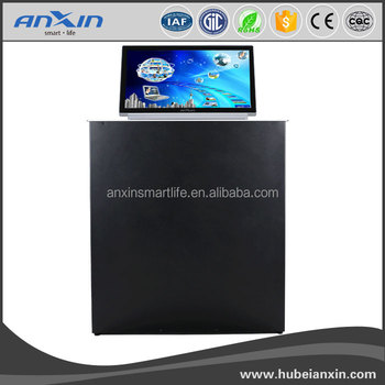 2017 ANXIN 19inch LCD MONITOR LIFT video conference system