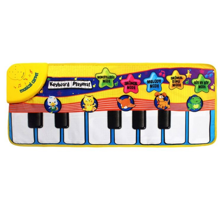 7583003-Kids Educational Toy Piano Musical Animals Touch Crawl carpet,baby play mat