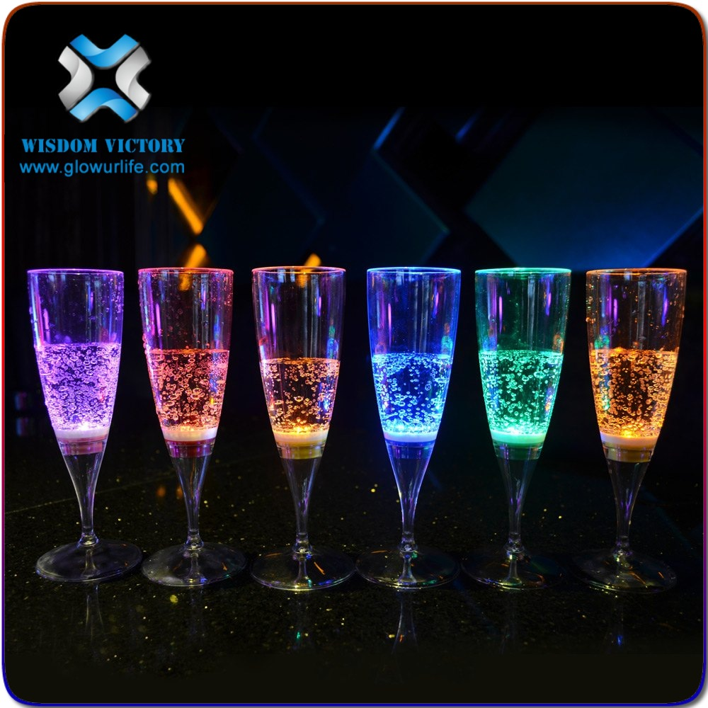 Inflatable Wedding Decorations Hot Led light Party Decor Glow Champagne Glass Liquid Activated LED Champagne Glass