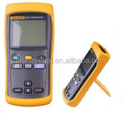 Fluke 51 II digital thermometer,F51 II handheld thermometer with J, K, T, E probe thermocouples infrared thermometer