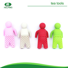 Low price silicone Mr tea infuser/tea strainer/tea bag