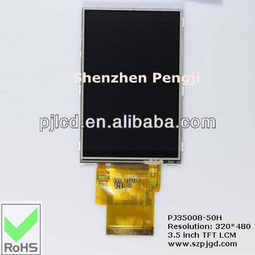 TFT display Color 3.5 inch touch LCD module vertical 320*480 TFT LCD