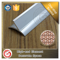 Aluminum profile powder coated finish vinyl flooring skirting board