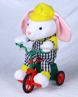 yellow singing bunny in tricycle