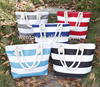 Women Canvas Monogram Beach Tote Bag