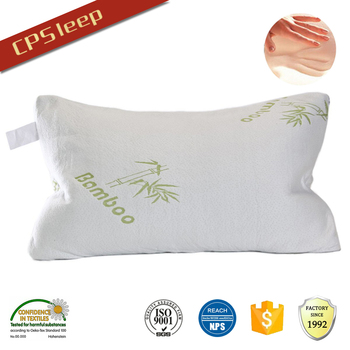 Anti-Microbial Rectangle Travel bamboo pillow shredded memory foam, memory foam bamboo pillow