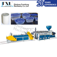 Plasticizing strong mono-layer single screw plastic cup sheet extruder