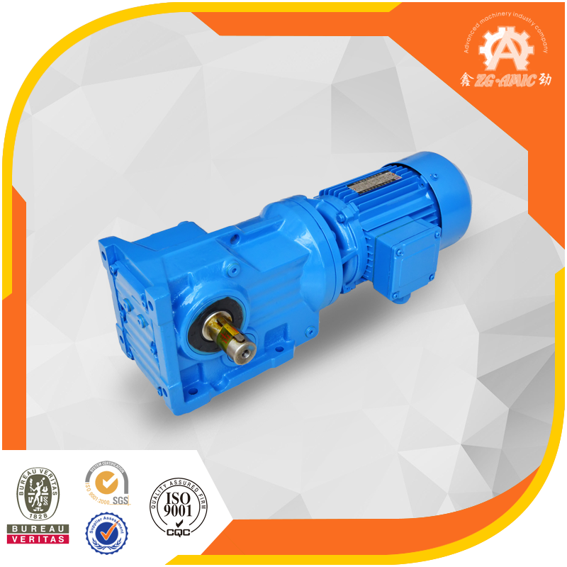 High torque K series helical bevel right angle gear drive