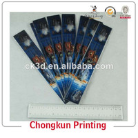 Hot Sell Manufacture High Quality Cute and Fancy Promotional Lenticular Printing 3d Plastic slap ruler