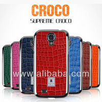 Croco Leather Phone case for iphone 5(S) & samsung galaxy S3 S4 i9300 i9500 Supreme Croco