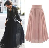 z81082B cheap chiffon latest lady skirt design pictures woman long skirt women maxi skirts