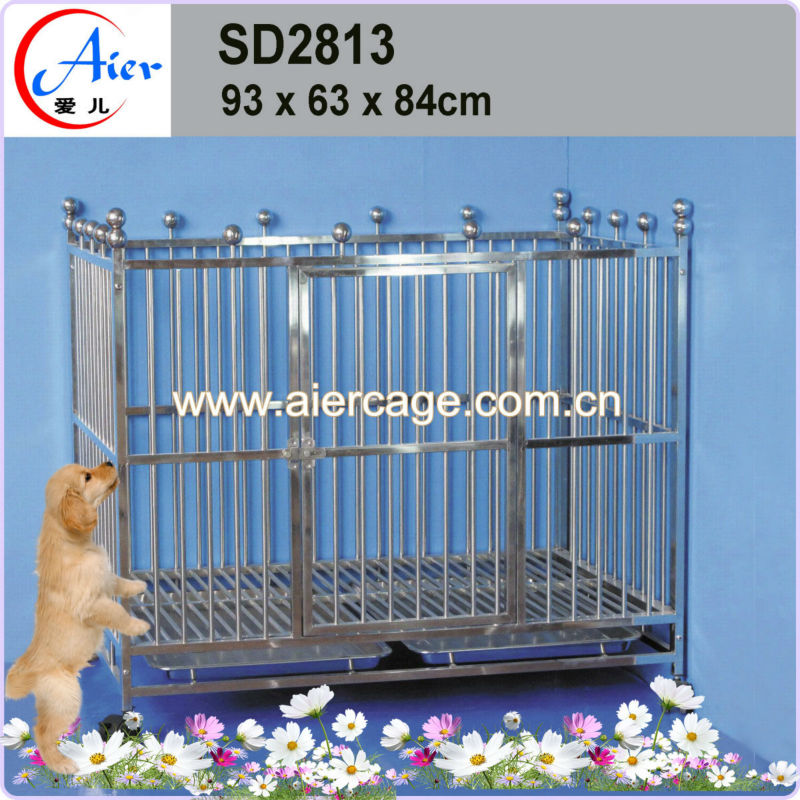 stainless steel indoor dog kennels