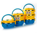 1-4 Layer Cute Cartoon Minion Lunch Bo