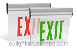 UL Running Man Double Sided Plate Acrylic Emergency LED Exit Sign Light