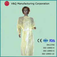 Factory yellow colour disposable 130*150 protective gown