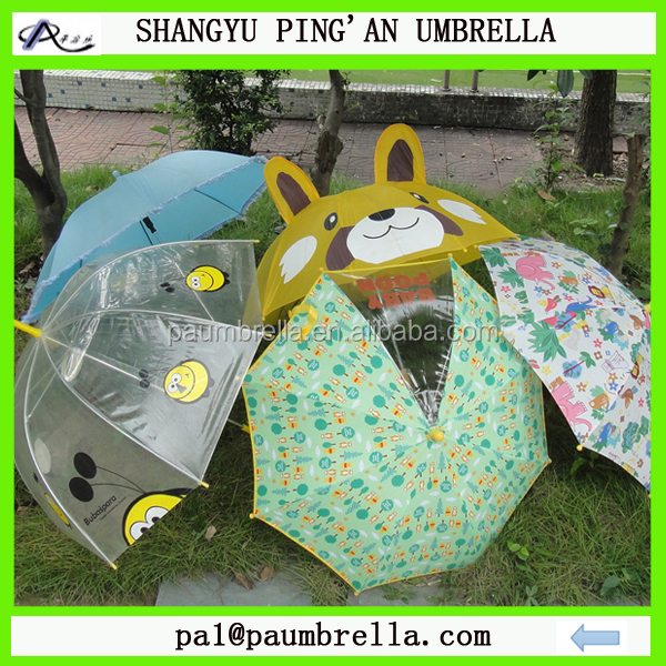 Shangyu umbrella manufacturer Various kinds of kids animal child umbrella