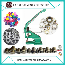 Hand press semi automatic manual eyelet punching machine and grommet snap button machine