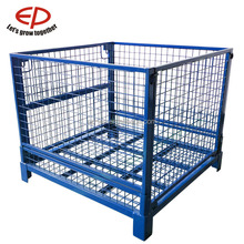 Storage Stacking Metal Rack,Warehouse Foldable Box,Box Pallet