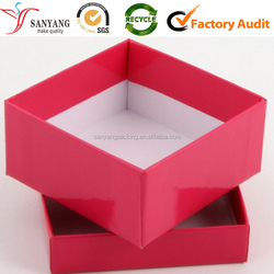 Gift container box for shoe with lid and base 2 pieces