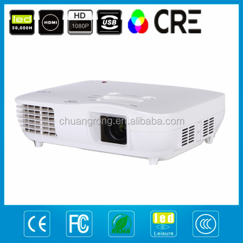 3LED + 3LCD Real Full HD 1080P rear Projection Home Cinema Projector with 1920*1080 native and 1000000:1 contrast