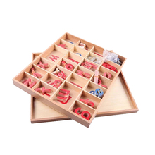China supplier christmas montessori language learning materials wooden train letters