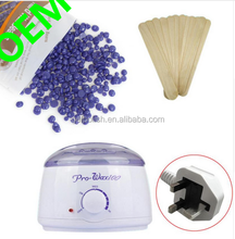 Unisex Hot Film Hot Wax Beads Wax Warmer Wax Wooden Sticks Kits