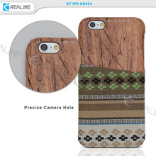 Blank wood custom phone case wooden cover , for iphone 7 phone case wood