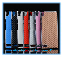 New Arrival ! Carbon fiber case cover for Huawei ascend P6 case