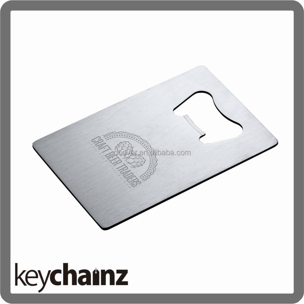 Stainless Steel Bottle Opener Business Card