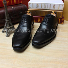 Hot sale 2017 italian custom shoes handmade leather mens english bespoke shoes In goodyear welted