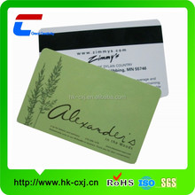 Custom design matt finish 2014 new plastic card with hico magnetic stripe on plastic business card