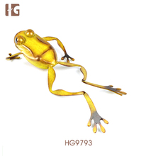 2017 Top Quality New Design Christmas Gold Frog Iron Garden Ornament