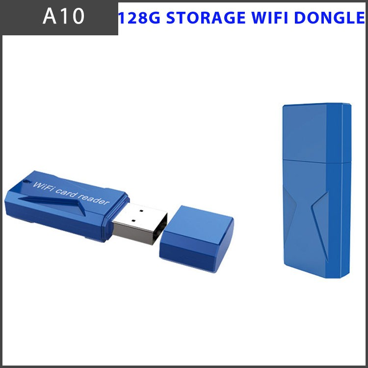 WiFi Wireless 128G Storage Reader for iPhone/iPad/Android Devices - SD Card, Micr SD Card and USB Flash Drive
