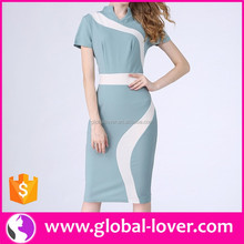 Wholesale New Design Pictures Straight Office Wear Dresses for Ladies