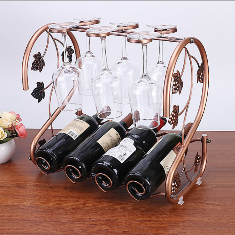 8 Bottles Stainless Steel Wine Rack ,Stainless Steel Bar Decorative Wine Bottle Holder