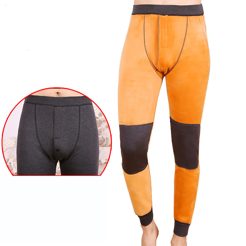 Fitness Hot Pants Underwear Men Thermal Underwear Bottom Long Winter Johns Pants