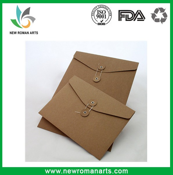 Custom Size & Logo Kraft Paper C5,C6,A4,A5 Envelope With String