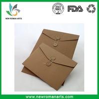 Custom Size & Logo Kraft Paper C5,C6,A4,A5 Envelope With String