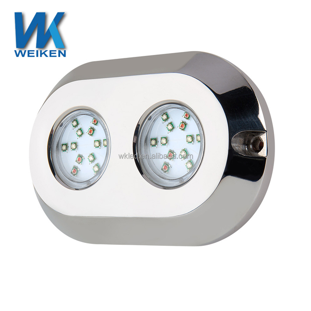 Easily installed 120 watt rgb 316l stainless steel housing 12v dc led marine lights underwater lights for boats