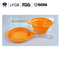 FDA, LFGB Hignt quality silicone collapsible fruit basket or folding bowl /container and foldable silicone fruit plate