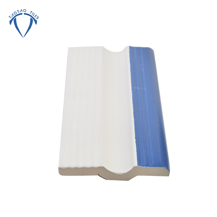 Cobalt blue anti slip swimming pool edge tiles <strong>ceramic</strong>