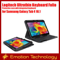 Original Logitech Ultrathin Keyboard Folio Protective case with integrated keyboard for Samsung Galaxy Tab 4 10.1