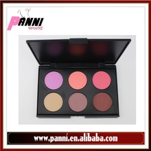 Natural blush 6 color blusher palette Cosmetics for cheek long lasting Face shimmer blushes