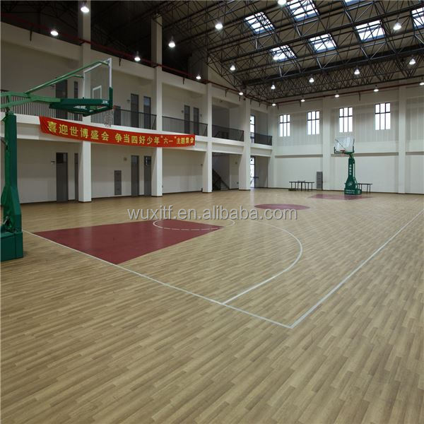Best Price sound proof durable used wood basketball pvc flooring for sale