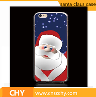 2016 newest christmas tree santa claus plastic hard printed phone case for iphone 5 5s