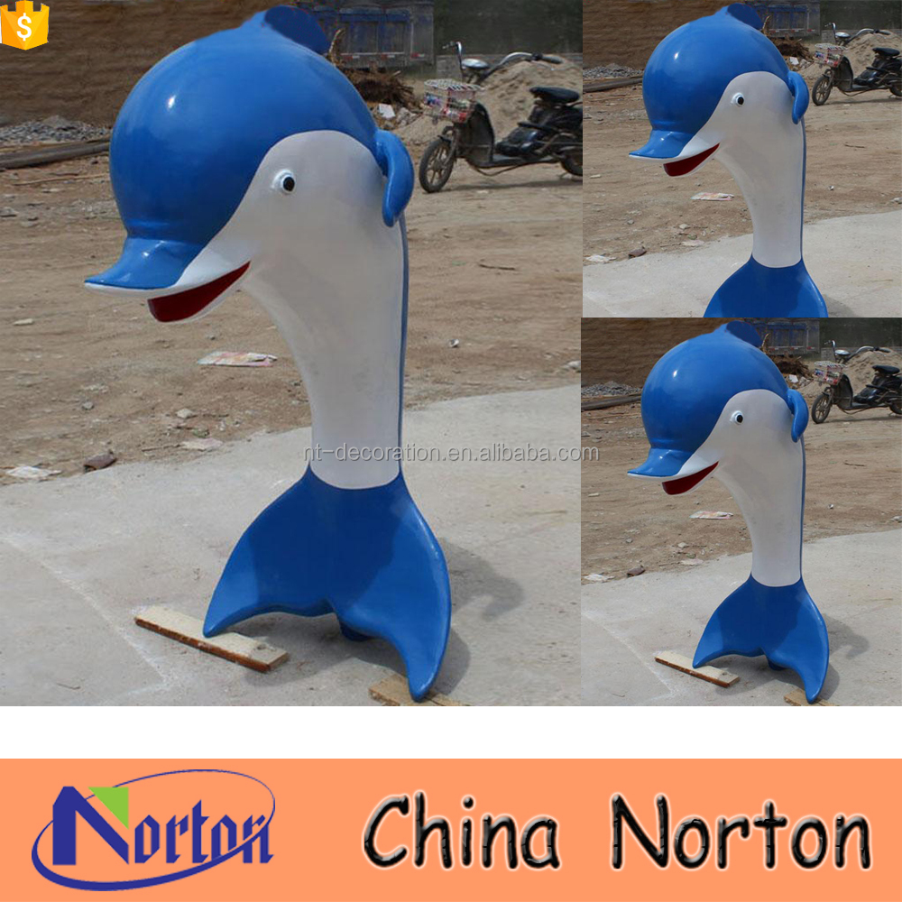 Outdoor decor life size fiberglass dolphin outdoor statues NTRS-CS761A