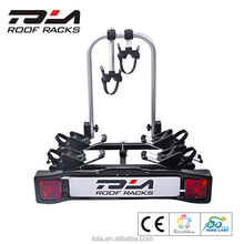 TOLA Hitch Mounted Rear Bike Carrier, Heavy Duty 4 Bicycle Bike Rack Car Swing Down SUV Truck Van Hitch Mount Carrier