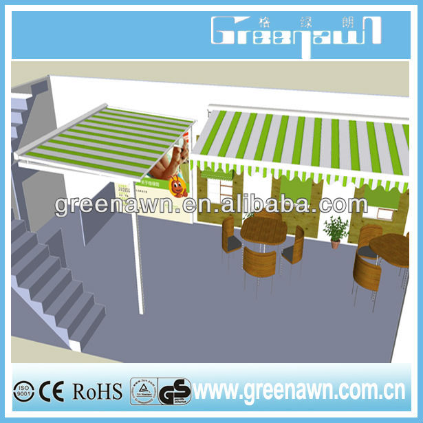 metal roof awning terrace canopy roofing material